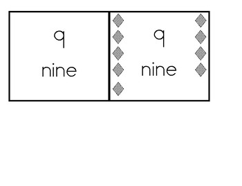 Number Cards with number words and quantity