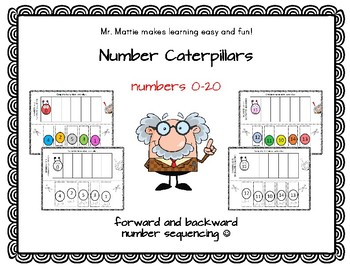 Number Caterpillars number sequencing