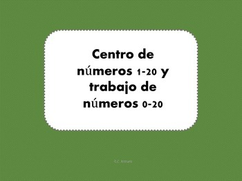 Number Center & Activities 0-20 -Spanish