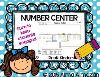 Number Center English and Spanish Packs In One