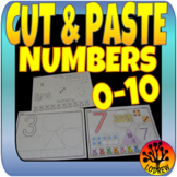 Number Centers Activities Fine Motor Math Cut and Paste Glue Collage Art