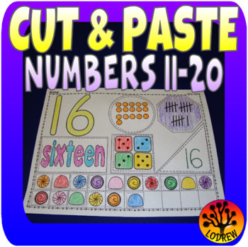 Number Centers Activities Fine Motor Math Cut and Paste Glue Collage Art 11 - 20