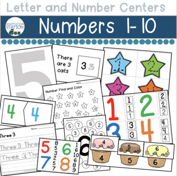 Number Centers for Early Childhood or Special Education (1-10)