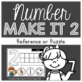 Number Centres: Number Make It 2! {Play Dough Mats/Puzzle}