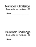 Number Writing Practice 1-20