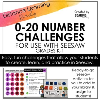 Number Challenges 0-10 | For Use with Seesaw