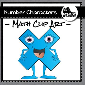 Number Character Clip Art - 30 PNGs