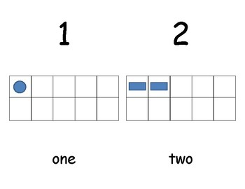 Number Chart 1-10 with Visuals on Tens Grids
