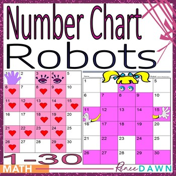 Number Chart 1 - 30 - Number Chart Robots