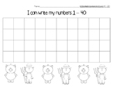 Number Chart 1-40 Farm Pig Theme