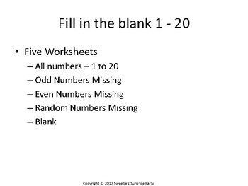 Number Chart - 1 to 20