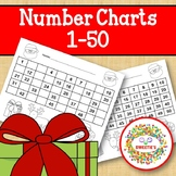 Number Chart 1 to 50 - Christmas Theme
