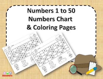 Number Chart 1 to 50 - Detectives Theme