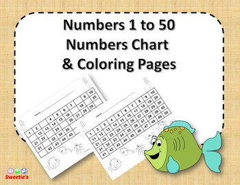 Number Chart 1 to 50 - Ocean / Under the Sea Theme
