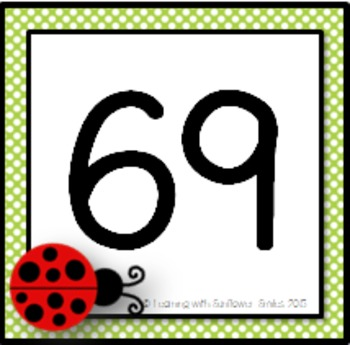Number Chart (100)  Ladybugs