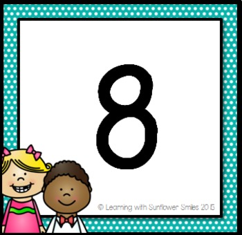 Number Chart (100)  Rainbow Colors Theme