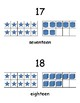 Number Chart 11-20 with visuals on Tens Grids