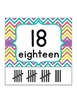 Number Chart Posters {Chevron Brights}