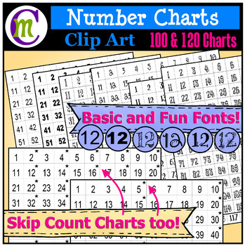 Number Chart Clip Art