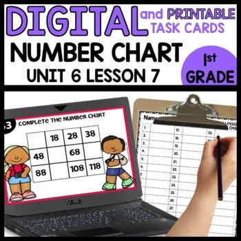 Number Chart | DIGITAL TASK CARDS | PRINTABLE TASK CARDS