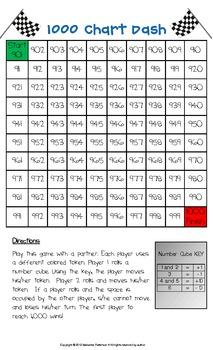 Number Chart Dash Math Game
