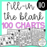 Number Chart Fill in the Blanks 110 Differentiated Charts From 1-100