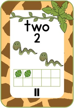 Number Chart: Giraffe Print, Jungle Theme