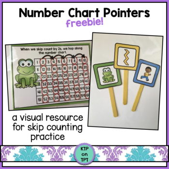 Number Chart Pointers (for skip counting practice)