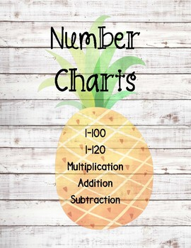 Number Chart Posters ~ Pineapple