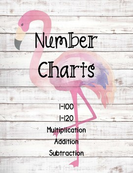 Number Chart Posters ~ Flamingo