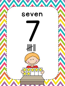 Number Chart Posters {Mix & Match Brights}
