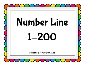 Number Chart Rainbow Dots 1-200