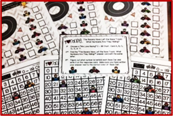 120 Chart Activities -  Race Cars and Slug Bugs!