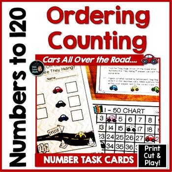 120 Chart Activities -  Race Cars and Slug Bugs!