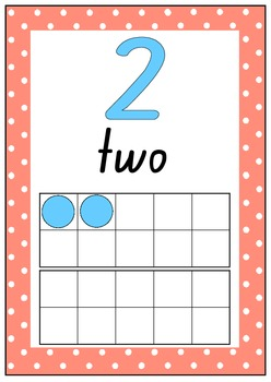 Number Charts 0-20 with tens frames