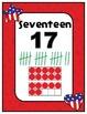 Number Charts 0-30 Patriotic Theme