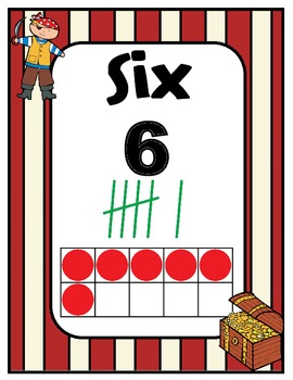 Number Charts 0-30 Pirate Theme