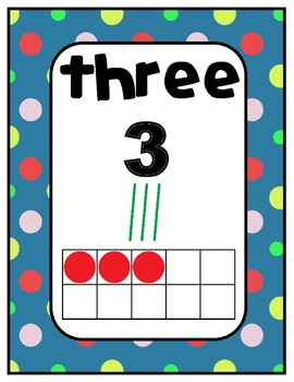 Number Charts 0-30 Polka Dots