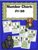 Number Charts #1-20 (Jungle Theme)