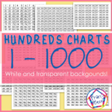 Number Charts 1 to 1000:  Hundreds Charts