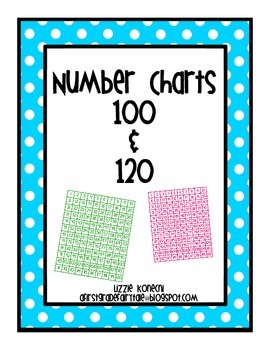 Number Charts 100 and 120