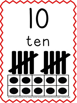 Number Charts for wall