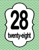 Number Charts 21-30