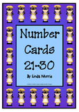Number Charts 21-30 - Chef Theme