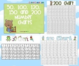Number Charts - 50, 100, 120, 150 and 200 - 5 Pages