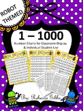 Number Charts - Numbers to 1000 ROBOT THEMED