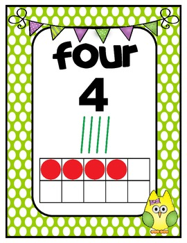 Number Charts: 0-20 Owls