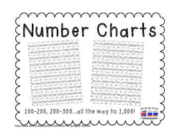 Number Charts Packet