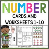 Number Recognition 1-10 - Number Sense Worksheets subitizing cards 1-10