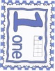 Number Charts in blue dots  0-20